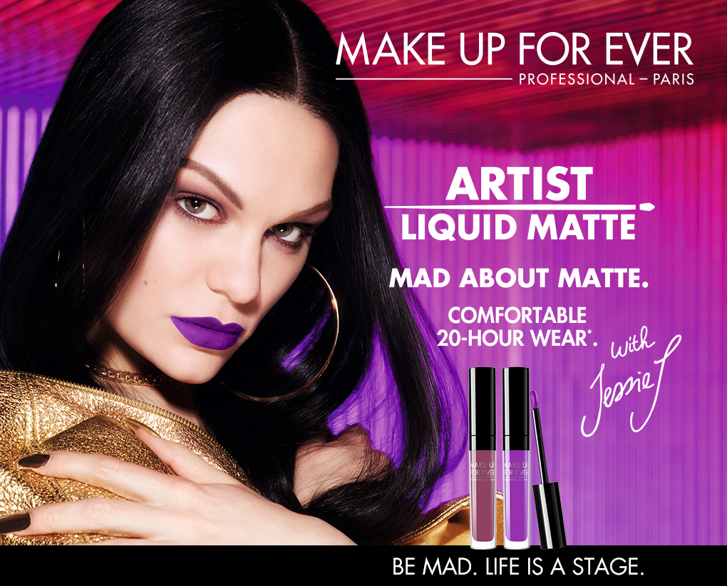 MAKE UP FOR EVER.PROFESSIONAL-PARIS.ARTIST LIQUID MATTE.MAD ABOUT MATTE.COMFORTABLE 20-HOUR WEAR.BE MAD.LIFE IS A STAGE.