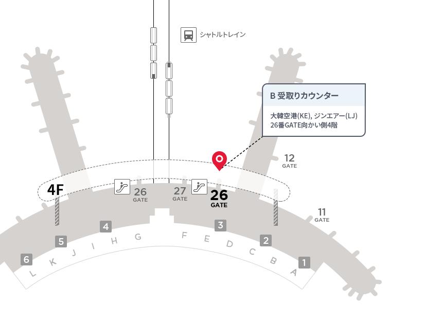 仁川国際空港受取りカウンターB