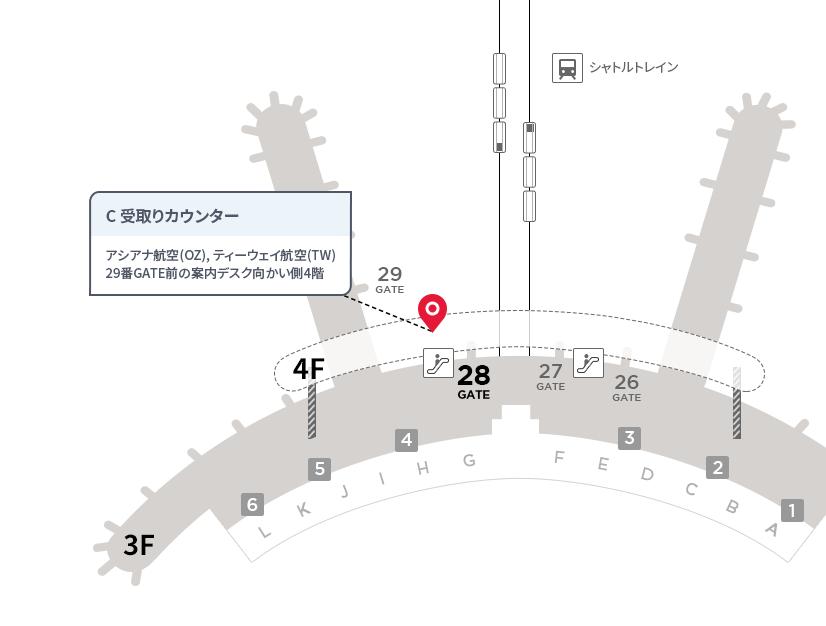 仁川国際空港受取りカウンターC