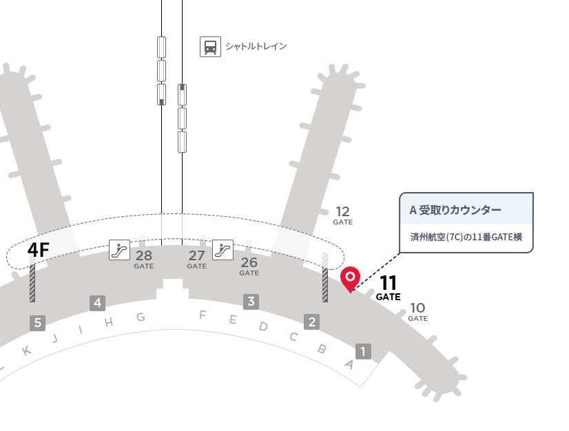 仁川国際空港受取りカウンターA