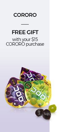 FREE GIFT with your $15 CORORO purchase