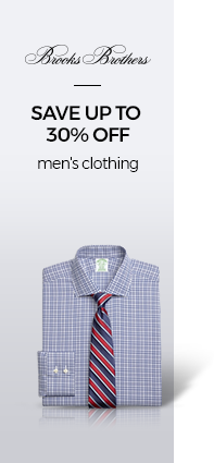 SAVE UP TO 30% OFF men's clothing