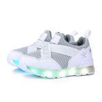 LEO STAR LED RUNNING SHOES(KIDS SHOES) WHITE 儿童彩灯鞋