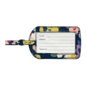 LUGGAGE TAG O C LARGE PAINTED PANSIES 行李牌 NAVY