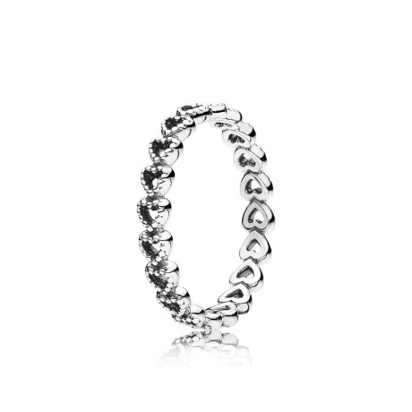 OPENWORK HEART SILVER RING