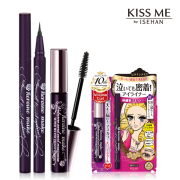 VOLUME AND CURL MASCARA SWP AND SMOOTH EYELINER SUPER KEEP BLACK 睫毛膏 眼线笔 2件套装