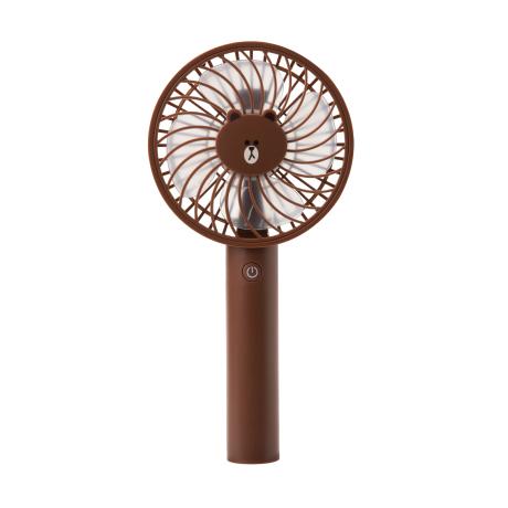 ハンディ扇風機 ブラウン