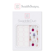 SWADDLE DESIGN DUO SET SD-184PP PINK 婴儿包巾套装