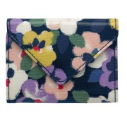 ENVELOPE CARD HOLDER LARGE PAINTED PANSIES 卡包 NAVY