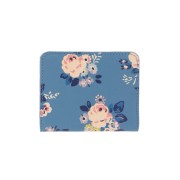 LEATHER CARD PURSE BRIAR ROSE BLUE