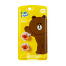 LINE CAR FRESHENER REFILL 2 PIECES (BROWN)