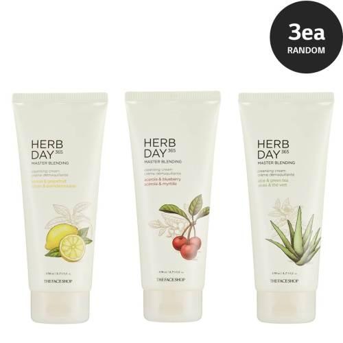 HERB DAY MASTER BLENDING CLEANSING CREAM 卸妆乳*3 (随机发送)
