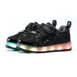 FALLING STAR LED RUNNING SHOES BLACK