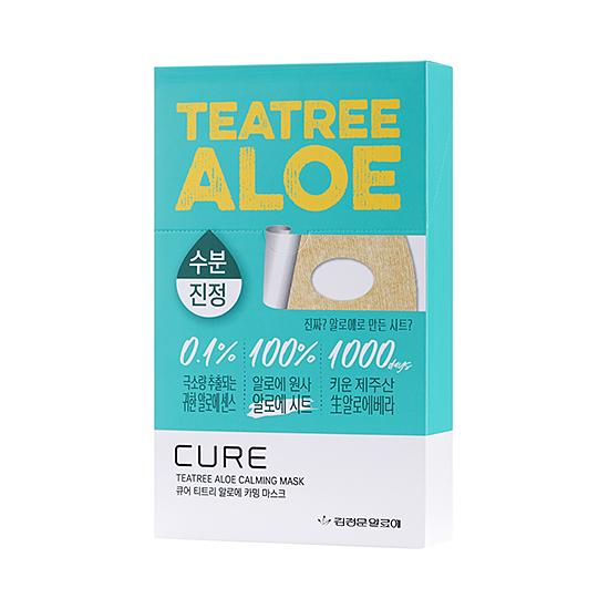 CURE TEA TREE ALOE CALMING MASK PACK 10 SHEETS