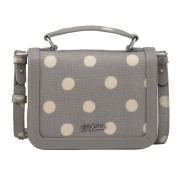 TINY EMBOSSED LUCKY BAG W HANDLE BUTTON SPOT GREY 斜挎包