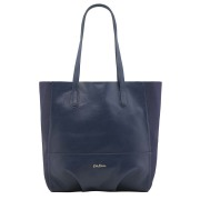 LEATHER AND SUEDE TOTE NAVY    单肩包