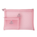 PINK RUMOUR MESH POUCH PINK RUMOUR