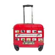 CUTIES AND PALS BABIES AND KIDS WHEELED SUITCASE LONDON STICKER BUS_RED