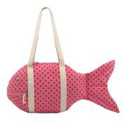 KIDS FISH BEACH BAG LITTLE SPOT PINK RED【トートバッグ】