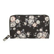 DOUBLE ZIP PURSE LATIMER ROSE   中款钱包  CHARCOAL