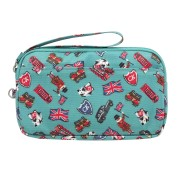 GADGET CASE LONDON STAMPS    收纳包  BRIGHT TEAL