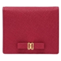 PINK DD LOGO RIBBON ACCENT CARD WALLET QUEENSWAY   钱包
