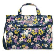 OPEN CARRYALL W STRAP PAINTED PANSIES NAVY   手提包