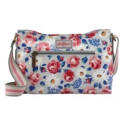 ZIPPED CROSS BODY DAISIES AND ROSES COOL BLUE    斜挎包